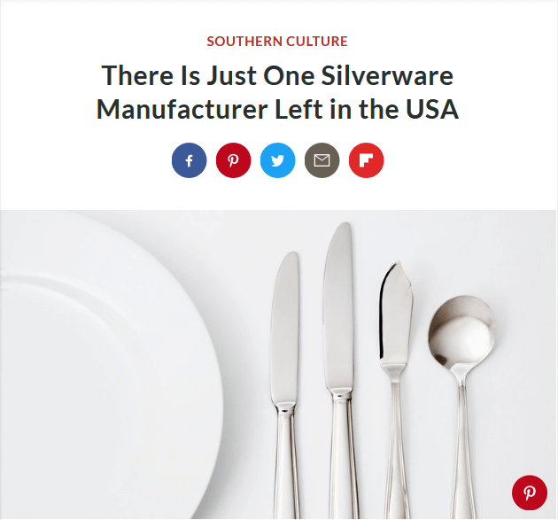 Southern living there is just one silverware manufacturer for Southern living login